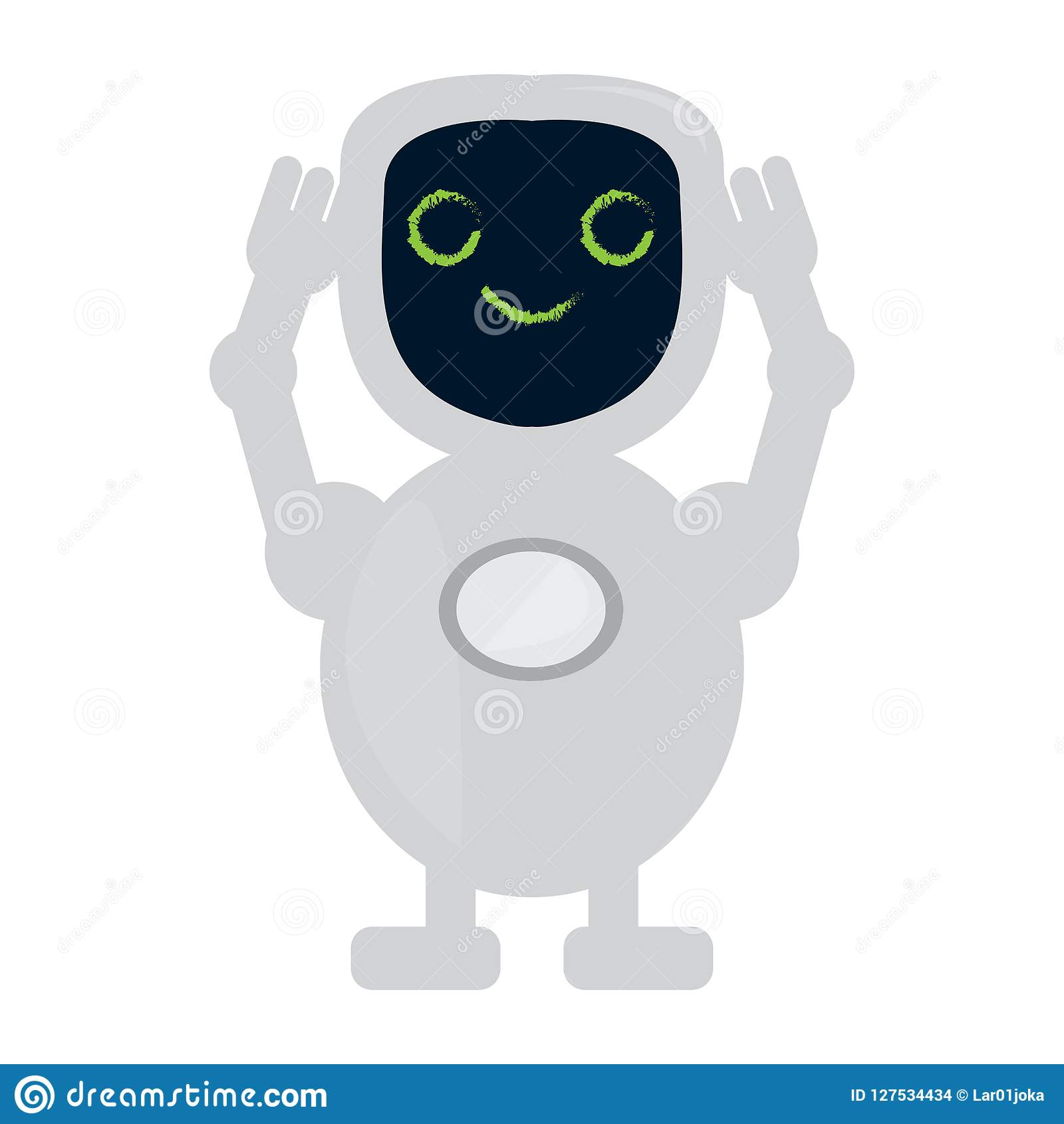 isolated cute robot toy