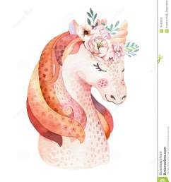 isolated cute watercolor unicorn clipart with flowers nursery unicorns illustration princess rainbow poster  [ 1121 x 1300 Pixel ]