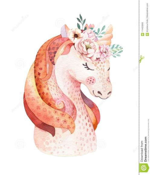 small resolution of isolated cute watercolor unicorn clipart with flowers nursery unicorns illustration princess rainbow poster