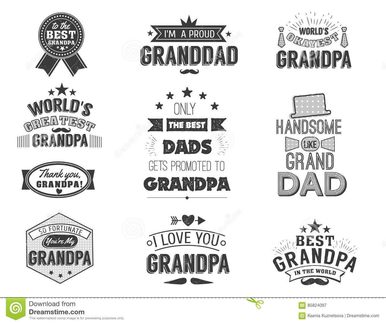 Isolated Grandfathers Quotes On The White Background