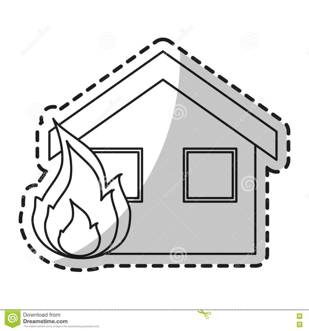 medium resolution of isolated house on fire design