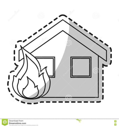 small resolution of isolated house on fire design