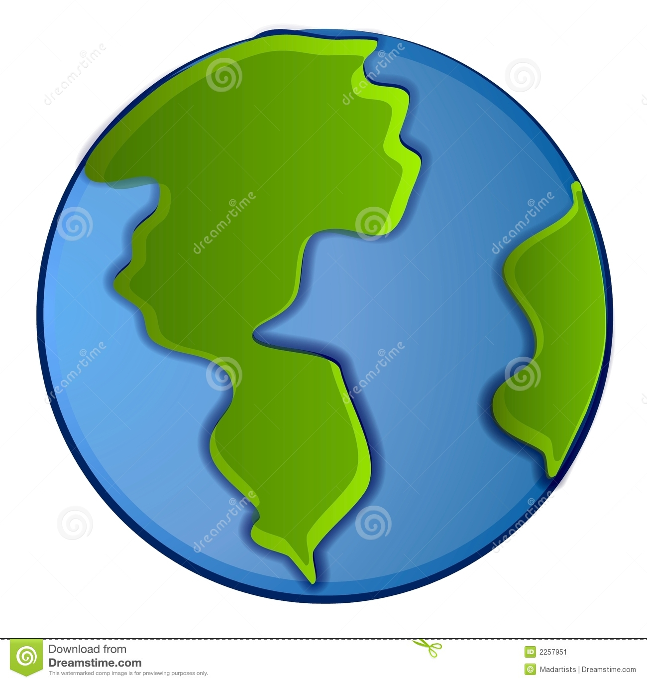 hight resolution of isolated planet earth clip art