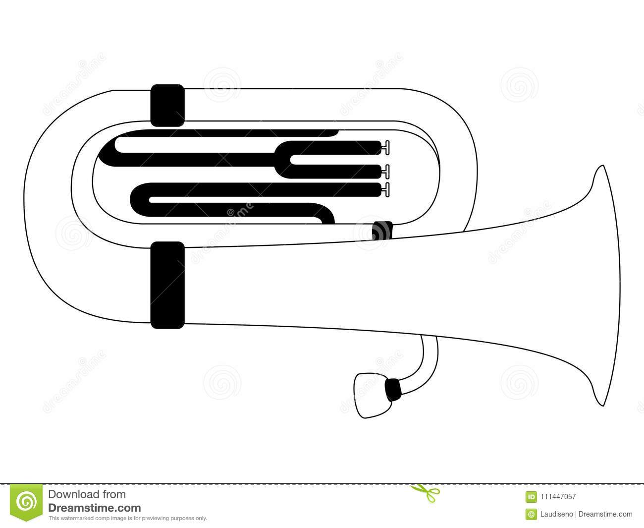 hight resolution of isolated tuba icon musical instrument