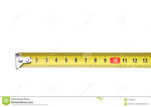 Isolated Yellow Measuring Tape Ruler Meter Royalty Free