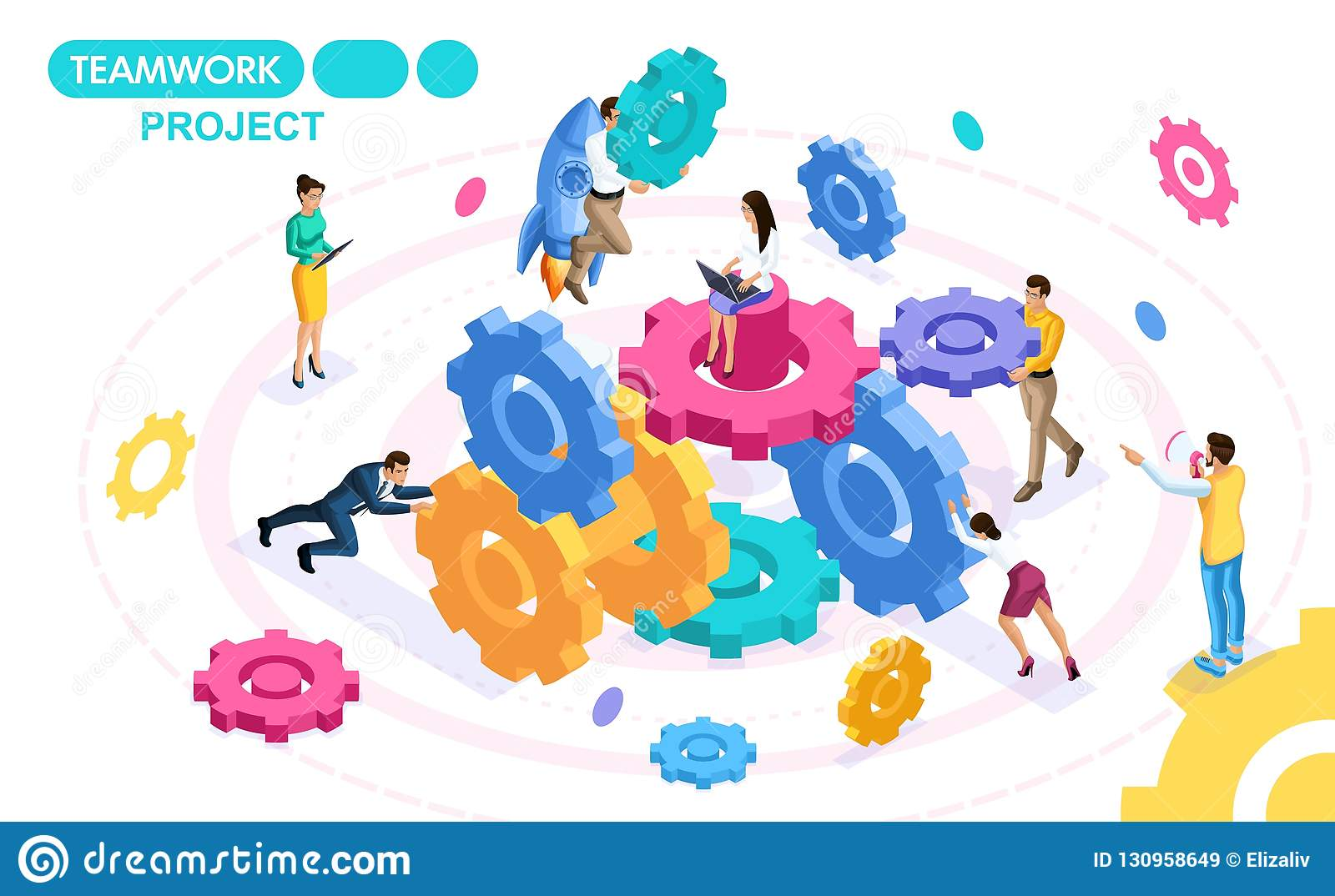 Isometric Concept Developing And Creating A Project Of