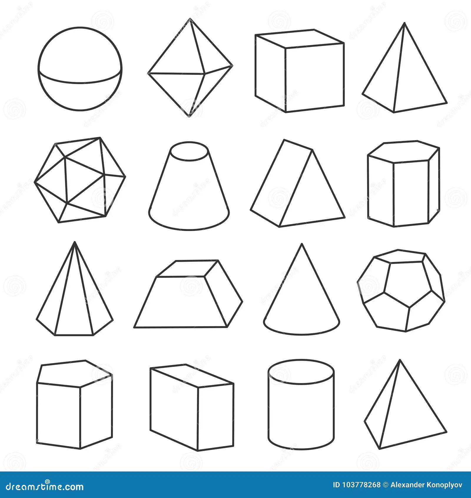 Isometric Geometric Figures Stock Vector