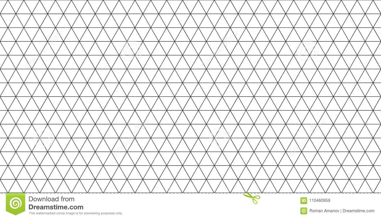Isometric Grid Seamless Pattern. Vector Template For