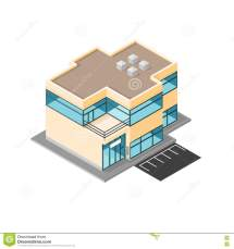 Isometric Vector Modern Office Flat Icon Design. Stock