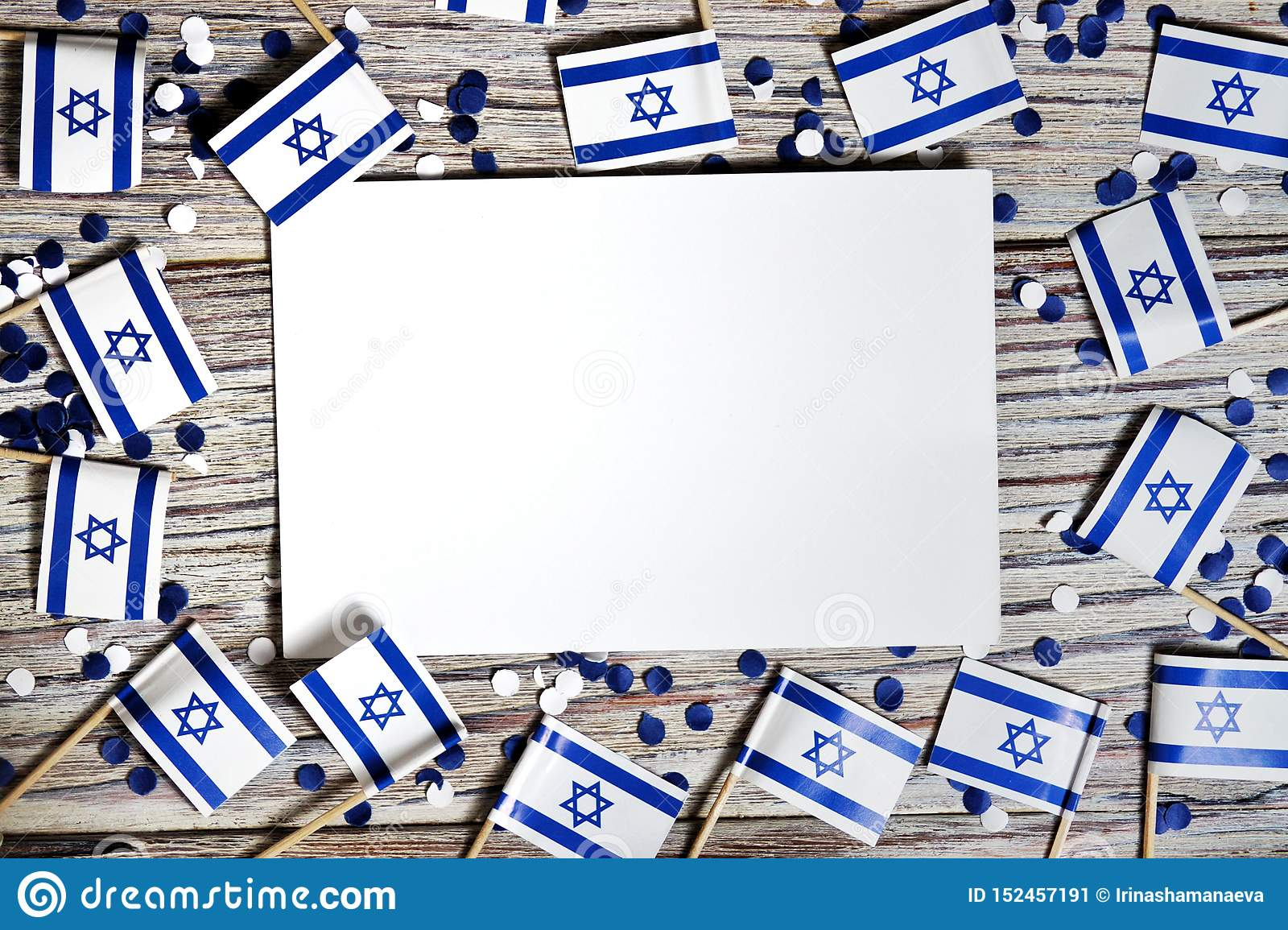 Israel Independence Day April 29 White Blue