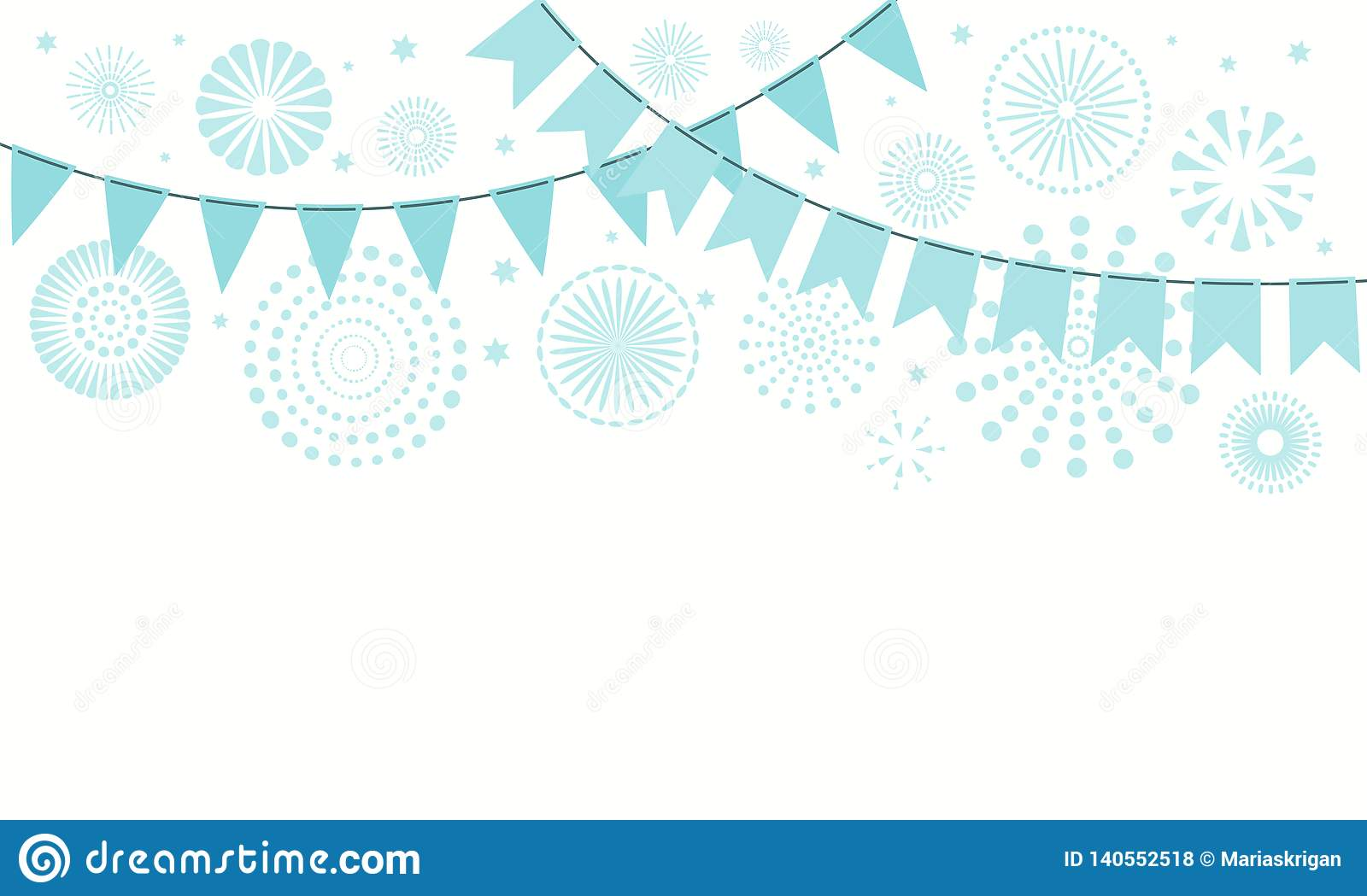 Israel Independence Day Fireworks Bunting Background