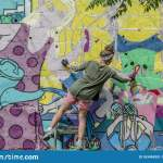 Israel Tel Aviv 21 04 2018 Russian Artists Paint Graffiti On The Wall Of An Abandoned Building In Tel Aviv Editorial Photo Image Of Festival Caucasian 163494351