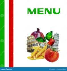 menu italian background restaurant cuisine clip watercolor illustration food vector 1300 1390 preview