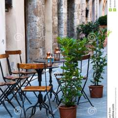 Chair Design Iron Antique Round Corner Italian Outdoor Cafe Royalty Free Stock Photos - Image: 25789428