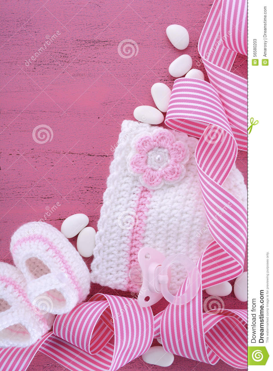 Baby Girl Nursery Wallpaper Borders Its A Girl Baby Shower Or Nursery Background Stock Photo