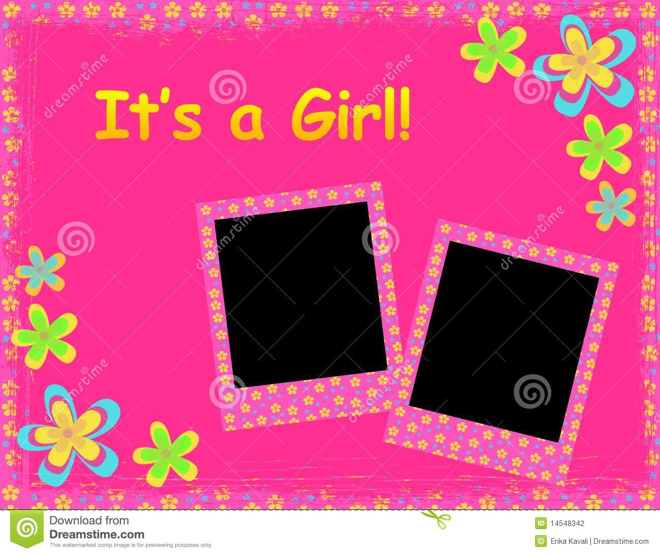 Background Wallpaper Baby Girl Its A Girl Template Stock Illustration Illustration Of