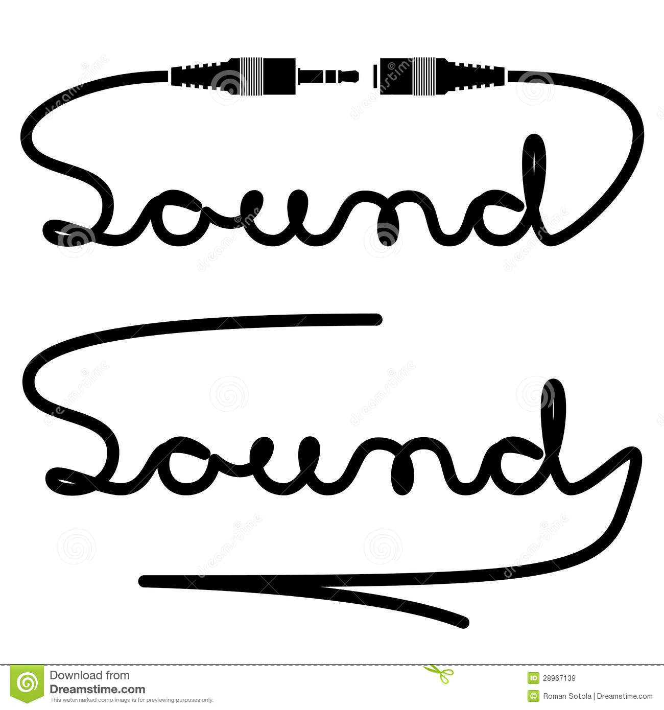 Jack Connectors Sound Calligraphy Royalty Free Stock Images