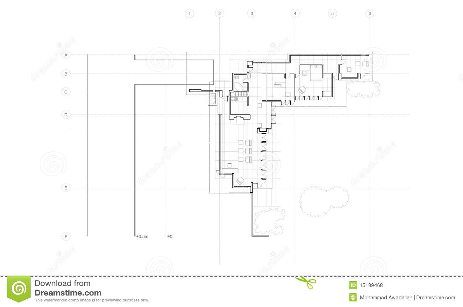 simple house diagram bulldog wiring jacobs detailed plan royalty free stock photos - image: 15189468