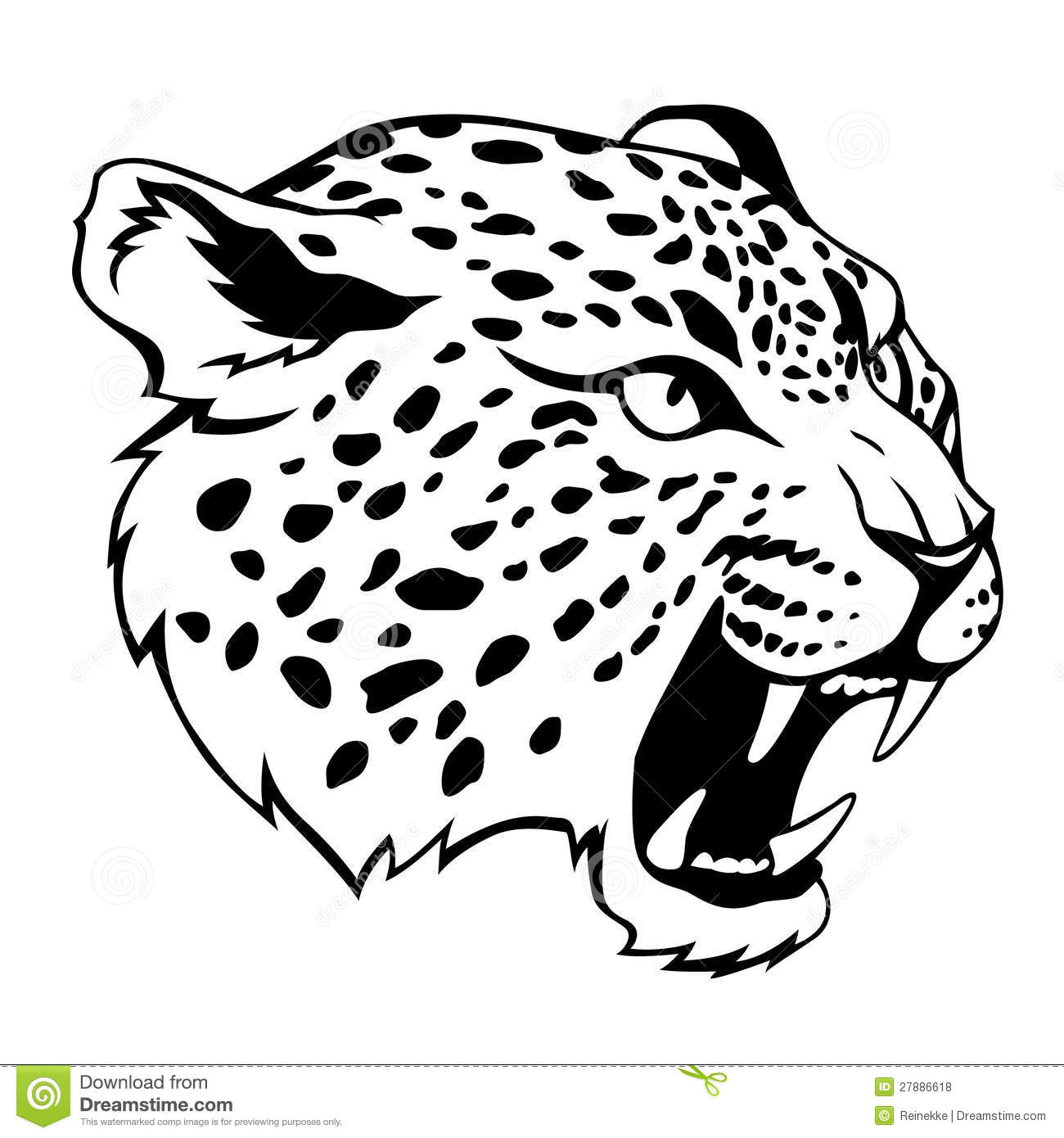 Jaguar Head Stock Vector Illustration Of Power Danger