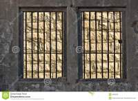 Jail Windows With Bars Stock Photos