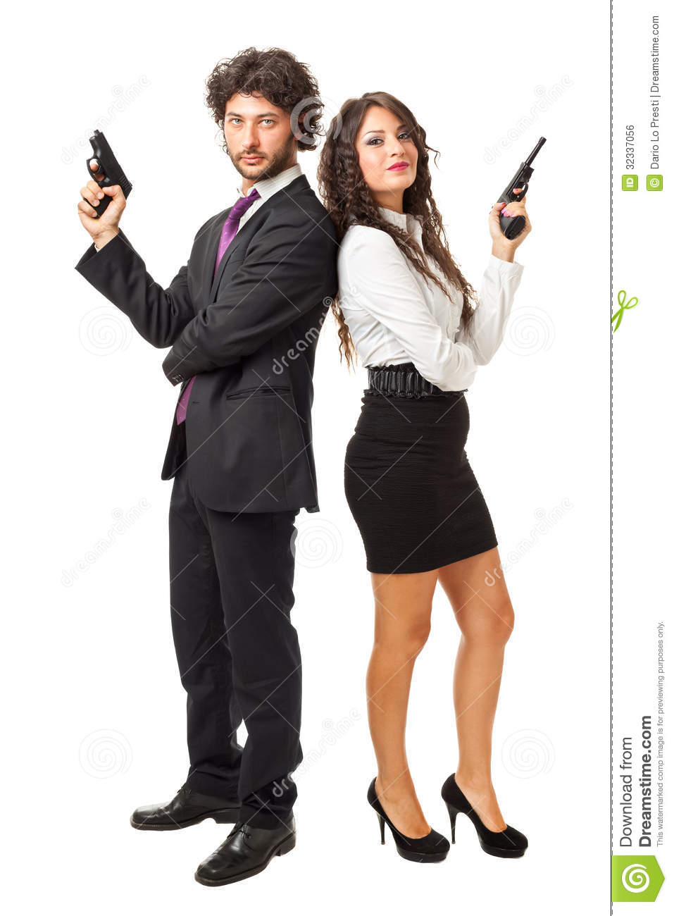 Danger Girl Wallpapers Free James Bond And His Girlfriend Stock Photo Image Of Guard