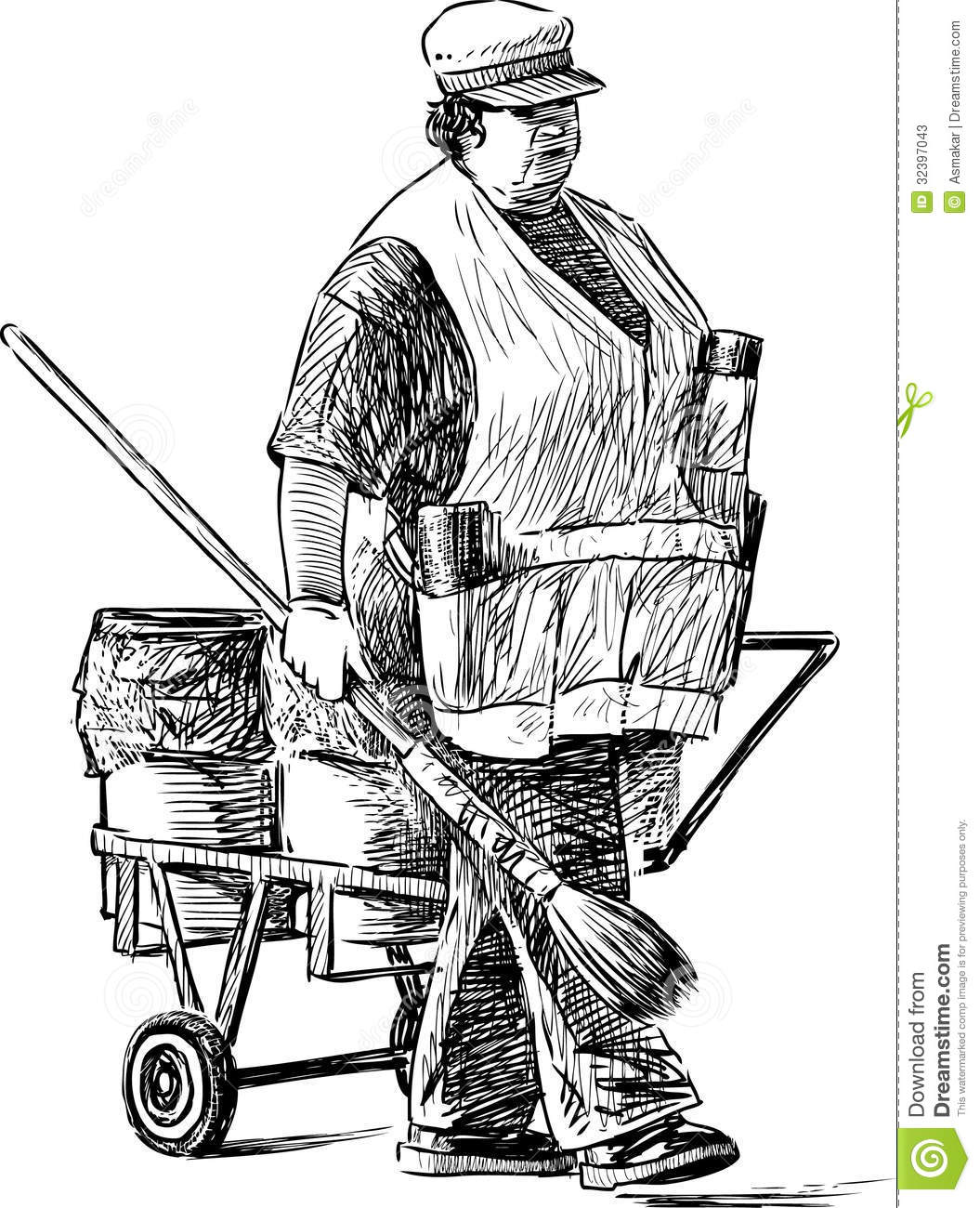 Janitor stock image. Image of adult, white, worker, screen