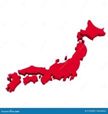 Japan Map Over White Stock Illustration. Illustration Of