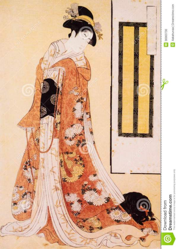 Ancient Japanese Painting Woman