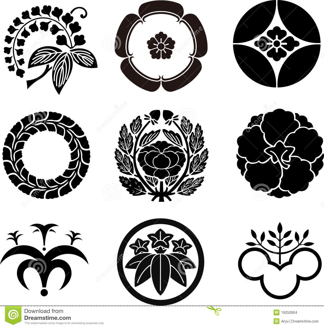 Japanese Family Crests Stock Images  Image 19250904