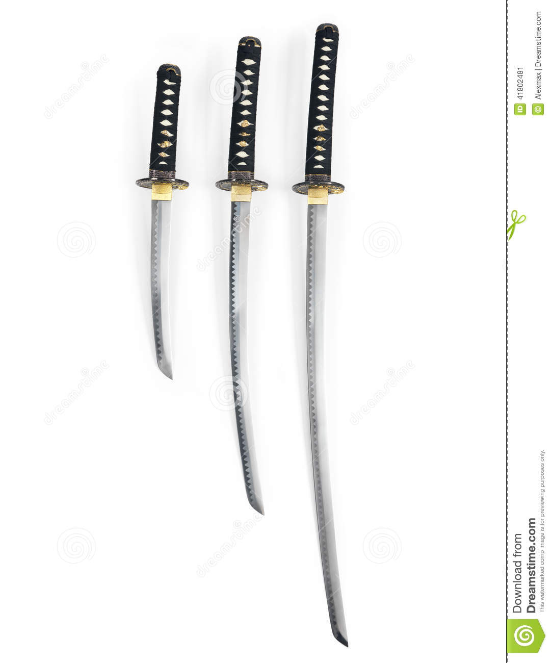 Japanese Katana Swords Stock Image Image Of Blades