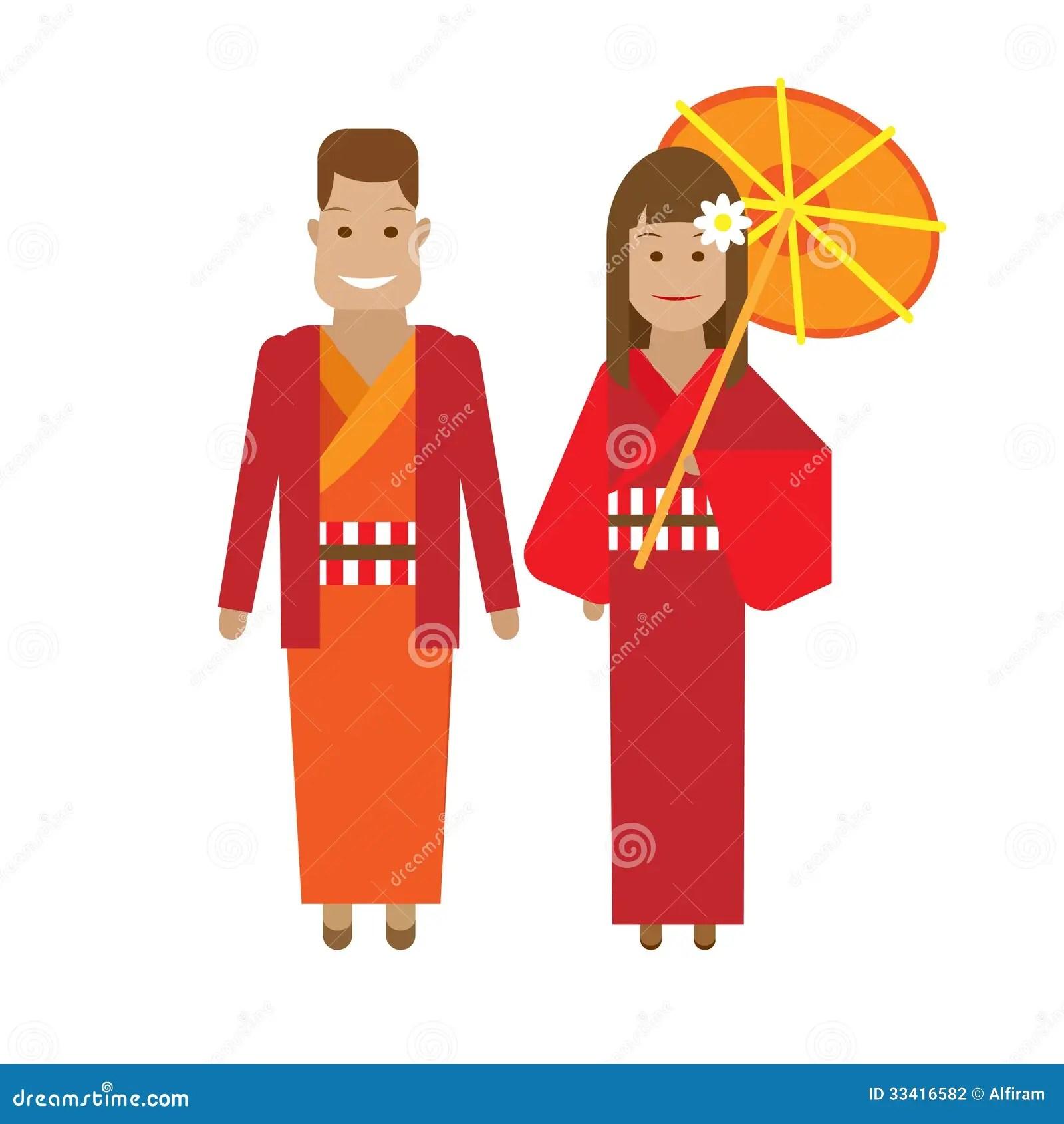 Japanese National Dress Stock Photography