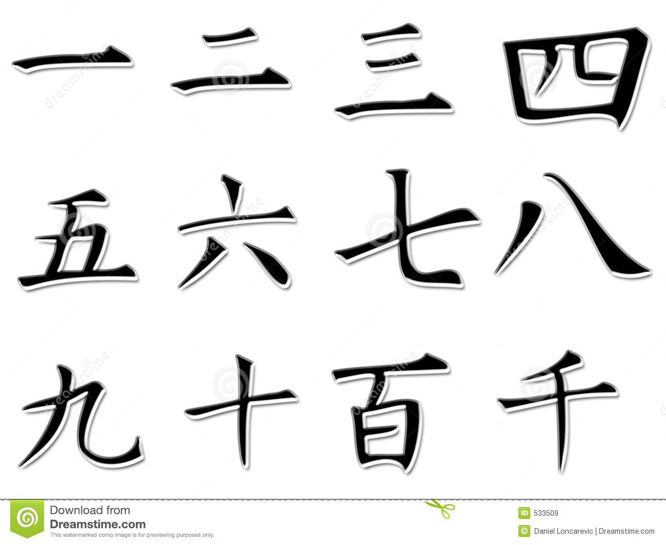 Japanese Numbers Royalty Free Stock Images