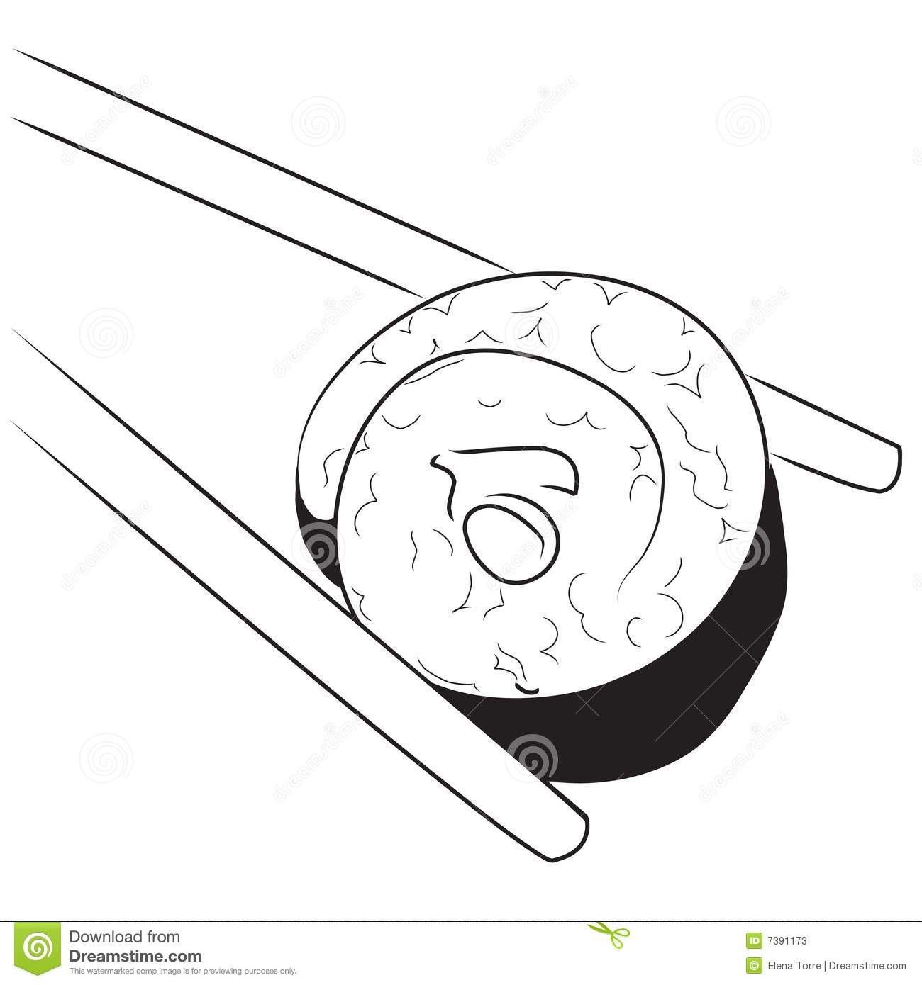 Japanese Sushi Stock Illustration Illustration Of