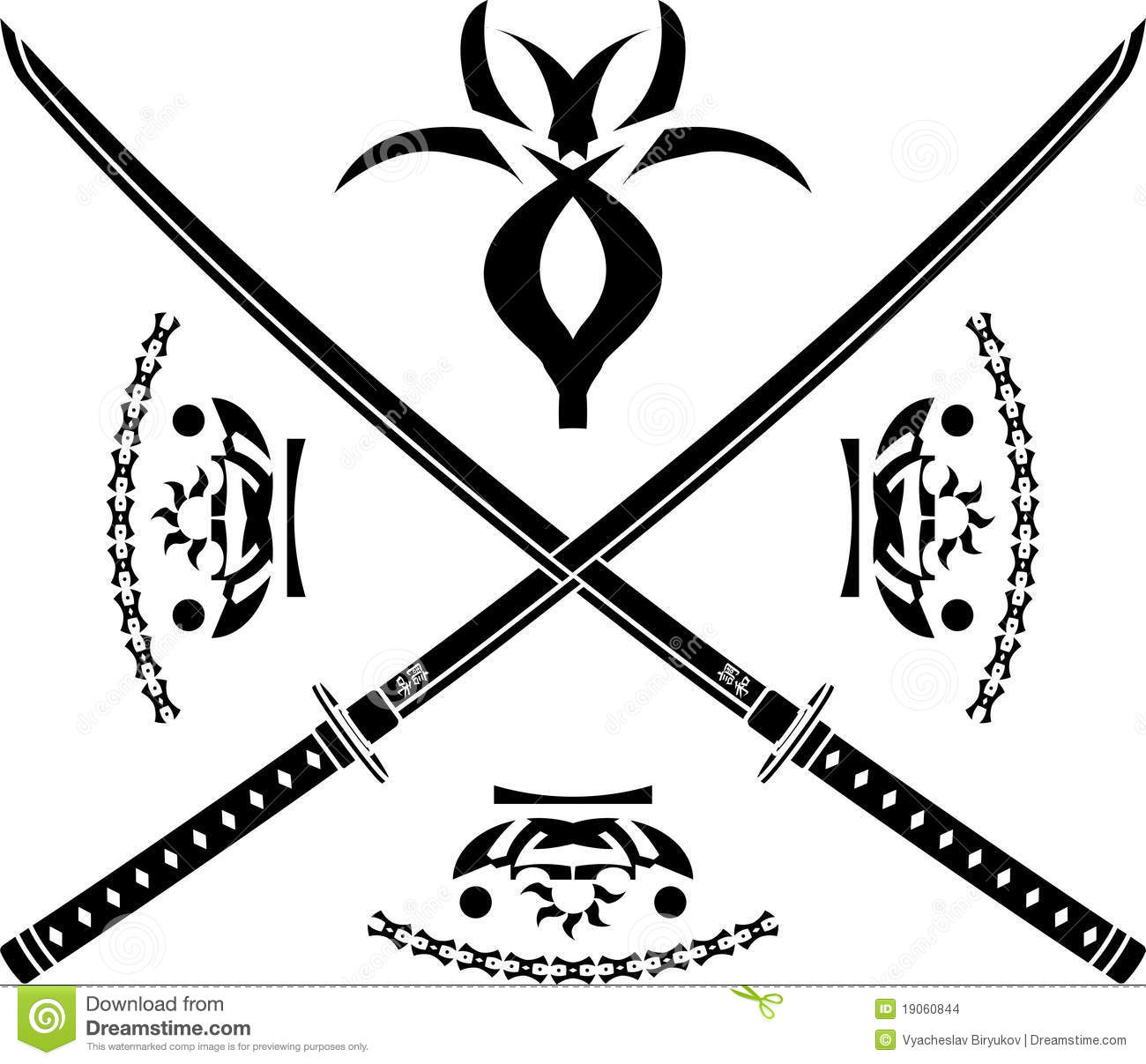 Japanese Swords Stock Vector Illustration Of Japanese