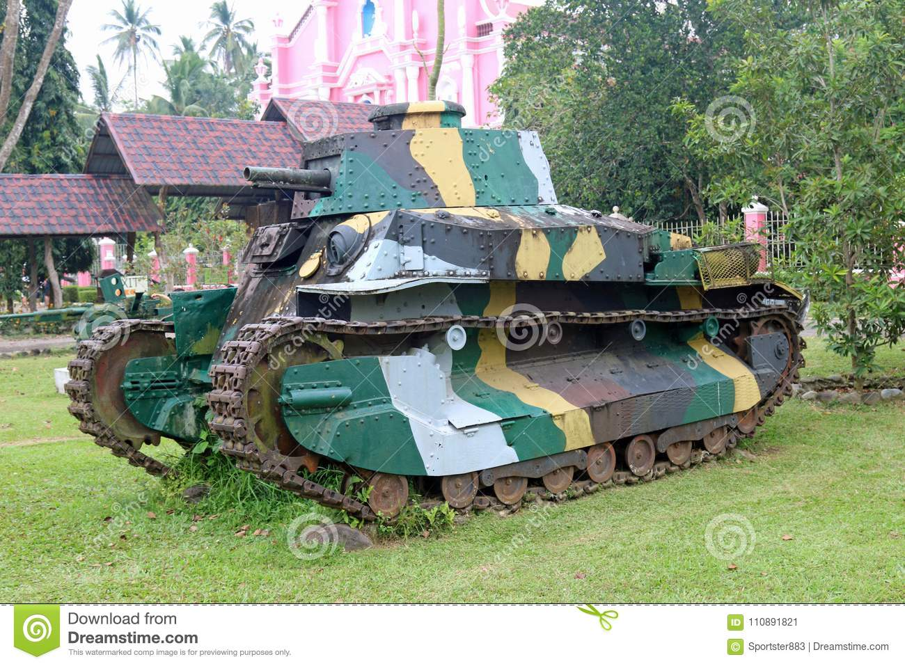 Japanese Tank Abandoned In Philippines After Ww2 Stock