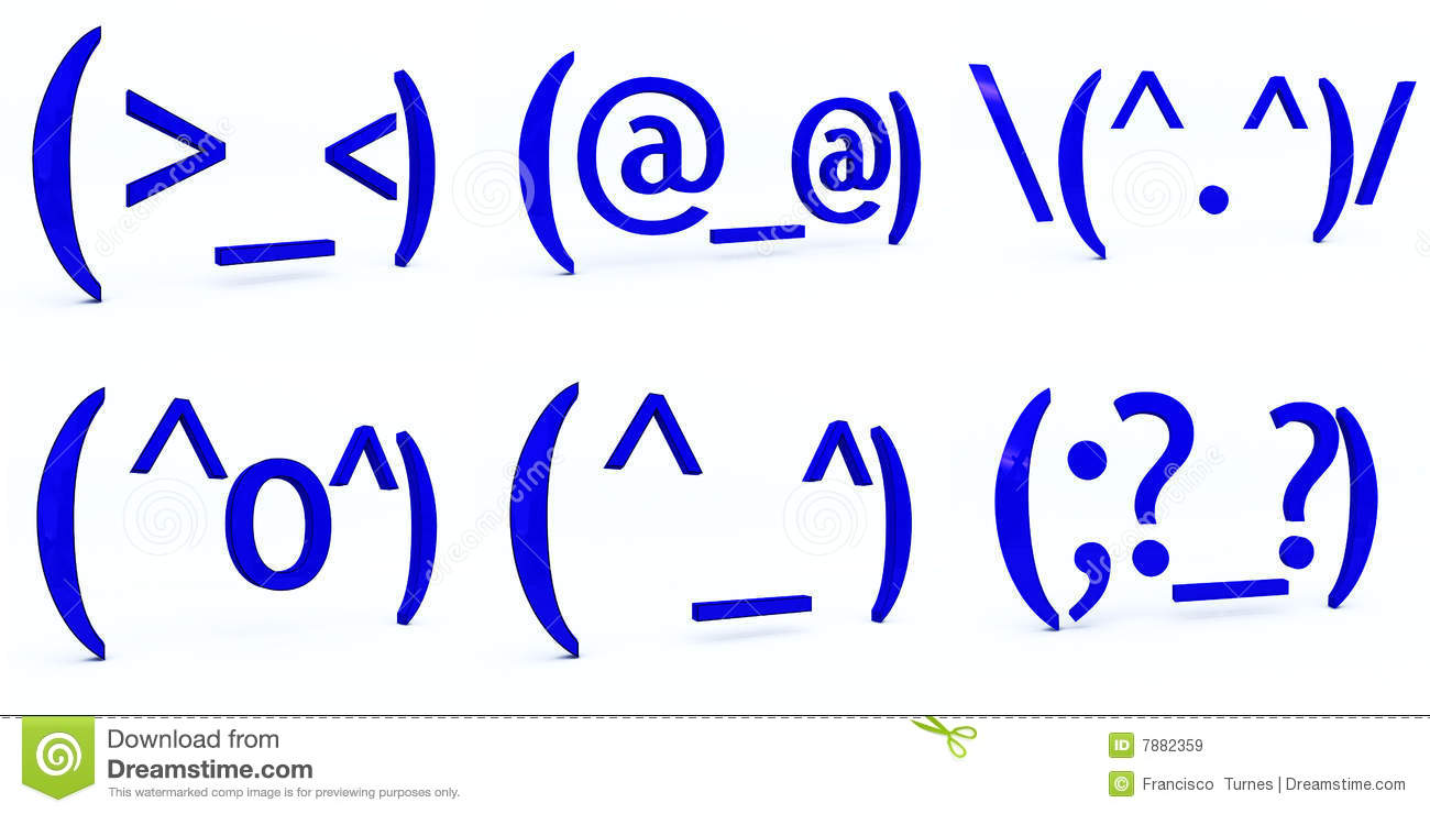 japanese text emoticons stock