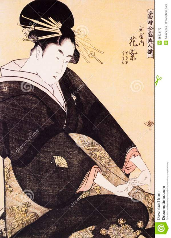 Traditional Japanese Women Painting
