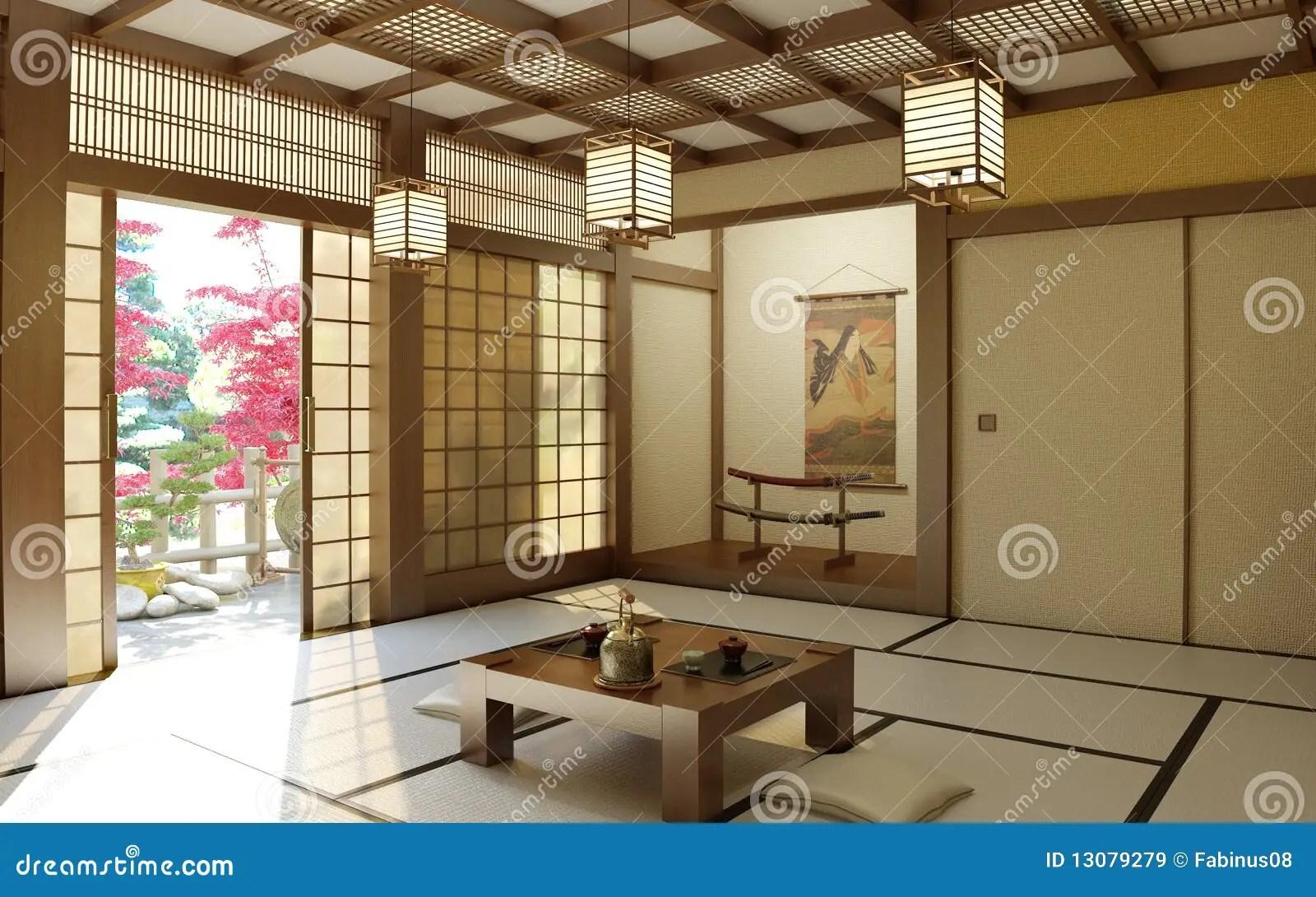 Japanese zen room stock image Image of inside buddhist
