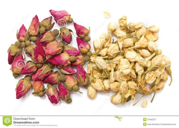 Jasmine And Rose Dry Buds Royalty Free Stock Photography