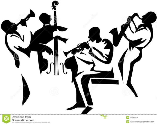 jazz quartet stock illustration