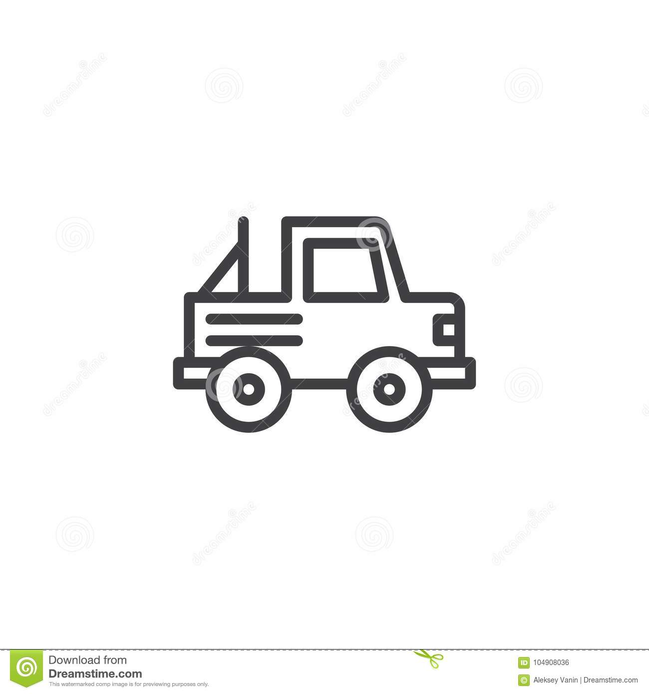 Jeep Car Line Icon Stock Vector Illustration Of Travel