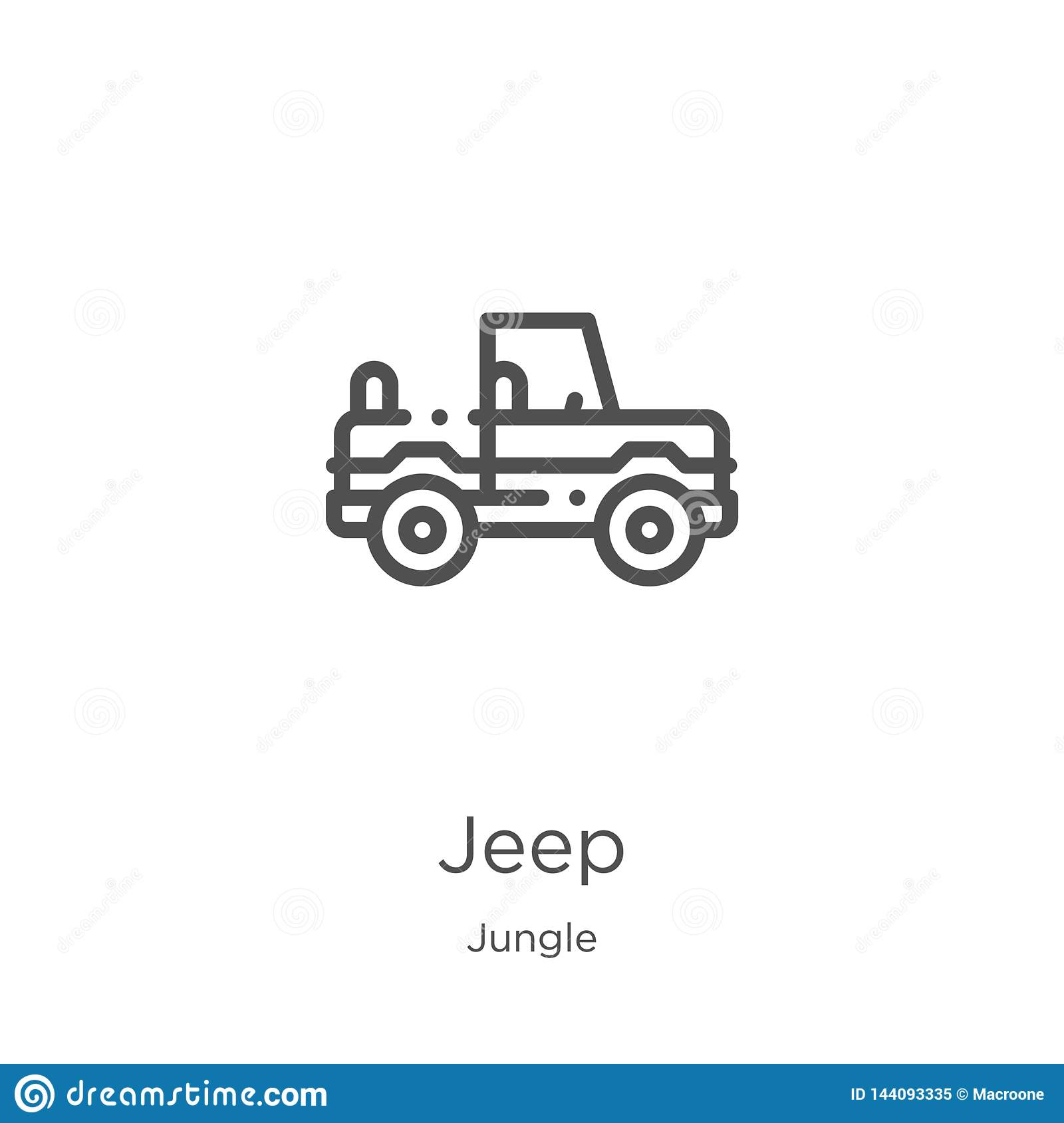 jeep icon vector from