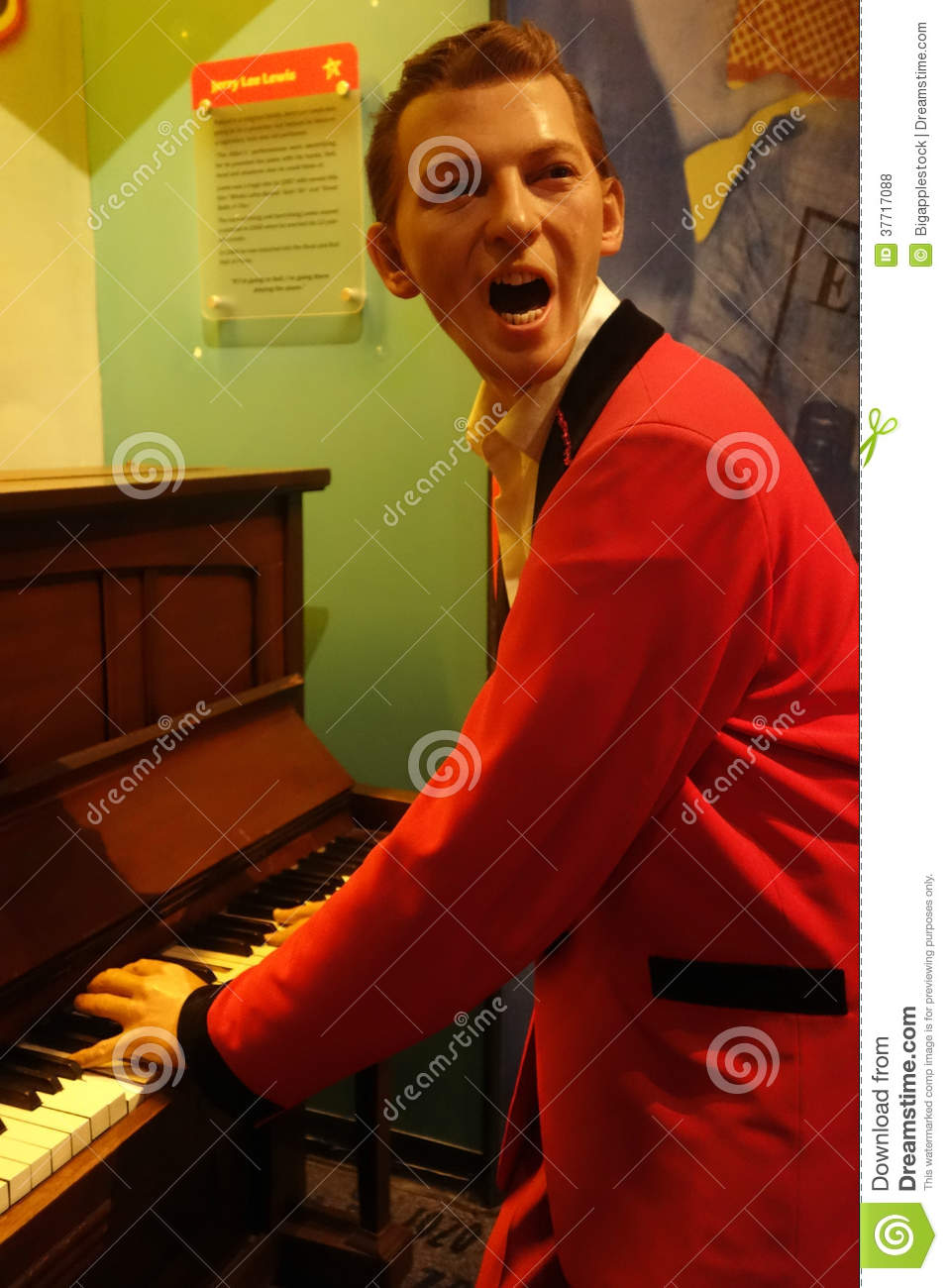 Jerry Lee Lewis Wax Figure Editorial Stock Photo  Image 37717088