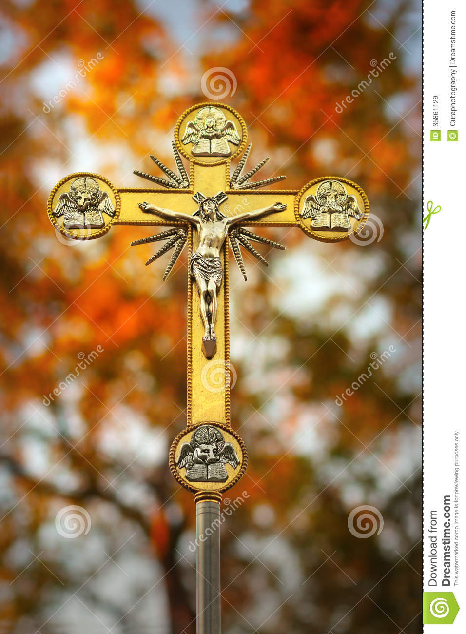 Holy Cross 3d Wallpaper Jesus Christ On Cross Royalty Free Stock Images Image