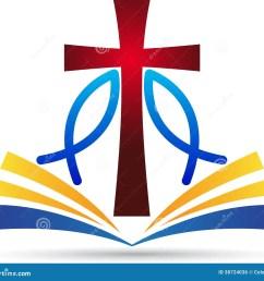 a vector drawing represents jesus cross bible fish design  [ 1300 x 1179 Pixel ]