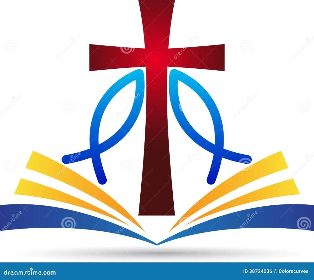 medium resolution of a vector drawing represents jesus cross bible fish design