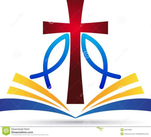 small resolution of a vector drawing represents jesus cross bible fish design