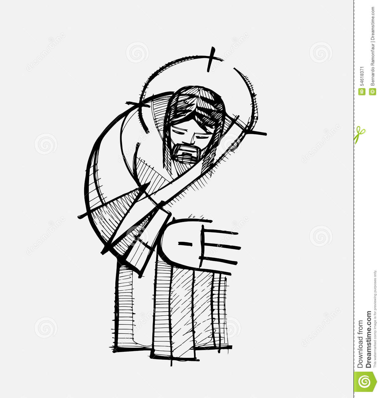 Jesus Hug Stock Vector Illustration Of Religious