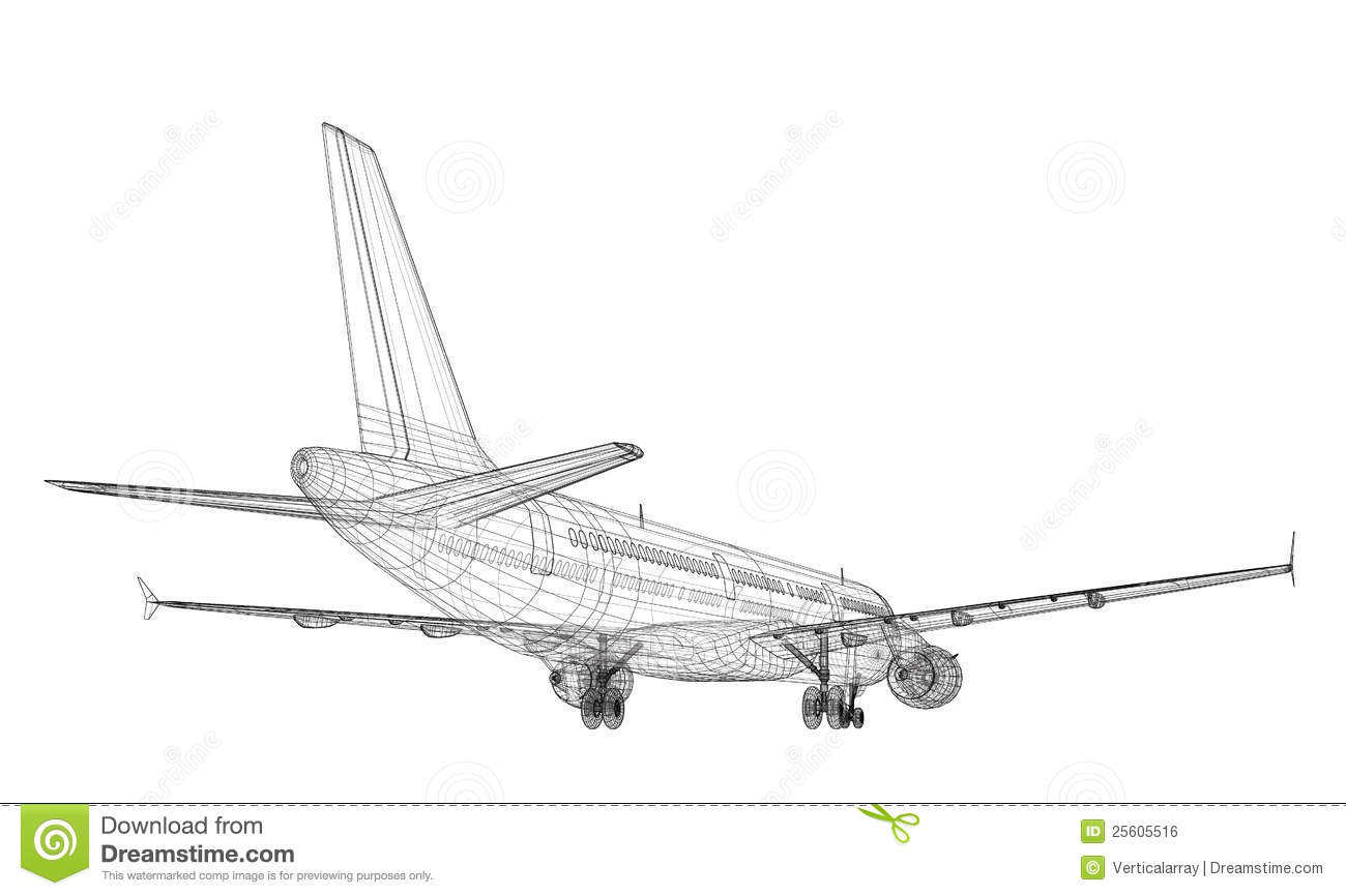 Jet Aircraft stock illustration. Illustration of aircraft