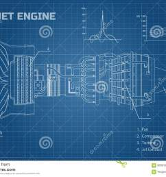 jet engine in a outline style industrial vector blueprint part of the aircraft  [ 1300 x 957 Pixel ]